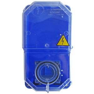Коробка під 1-ф ліч. КДЕ-2 ударостійка (синя)